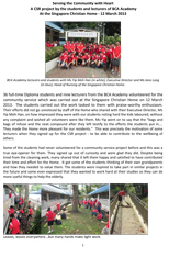 BCA Academy Volunteering Activity - 12 March 2013