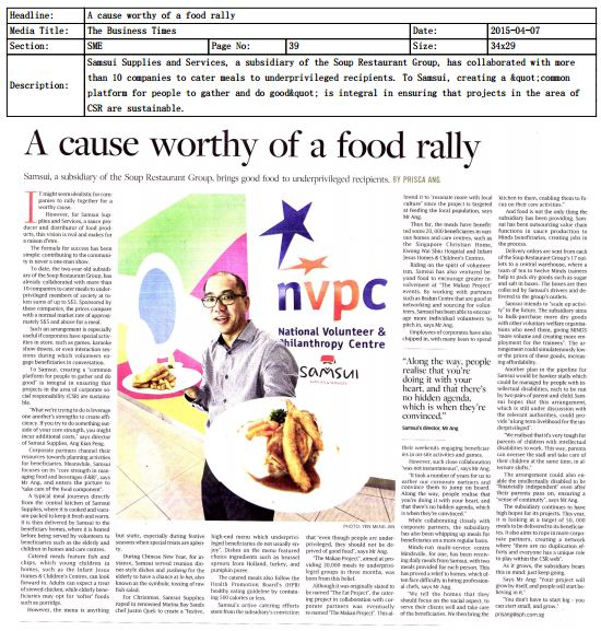 A Cause Worthy of a food rally 7 April 2015